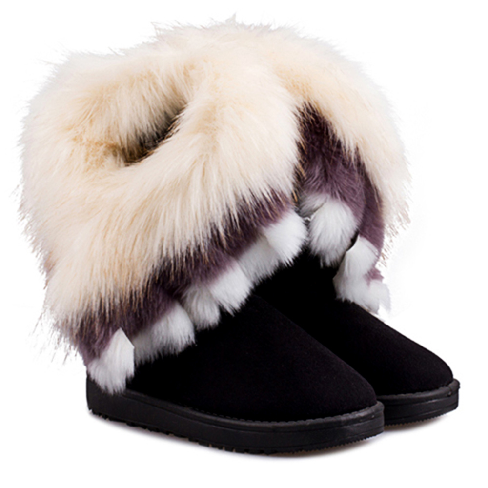 Popular Fur Snow Boots Women-Buy Cheap Fur Snow Boots Women lots ...