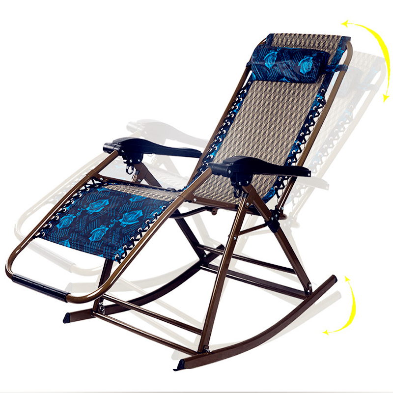 Free  installation  Foldable Safe Rocking Chair Breathable Reinforcement Load Outdoor Indoor Patio Wicker Chairs For lunch break adult colorful casual hanging chairs outdoor children canvas striped rocking chair top grade indoor patio swing