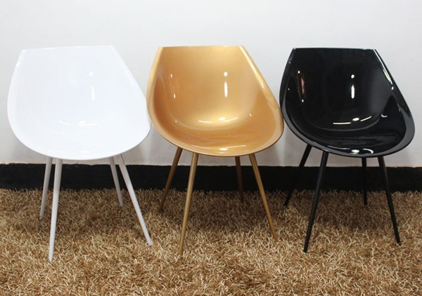 Free shipping Philippe Starck Lago chair,Golden egg chair,Designer ...
