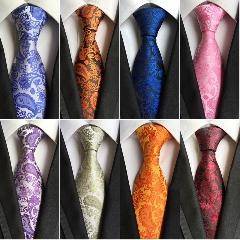 2016 Man's Fashion Accessories Paisley Ties For Men Classic Silk Jacquard Weave Ties Business Neckties 8.5cm Corbatas Hombre