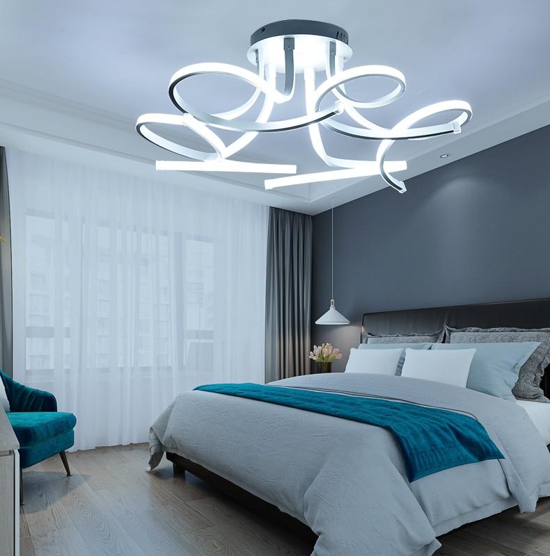 HTB1Ek7zQAzoK1RjSZFlq6yi4VXaJ New Design Acrylic lotus Led Ceiling Lights For Living Study Room Bedroom lampe plafond avize Indoor Ceiling Lamp Free Shipping