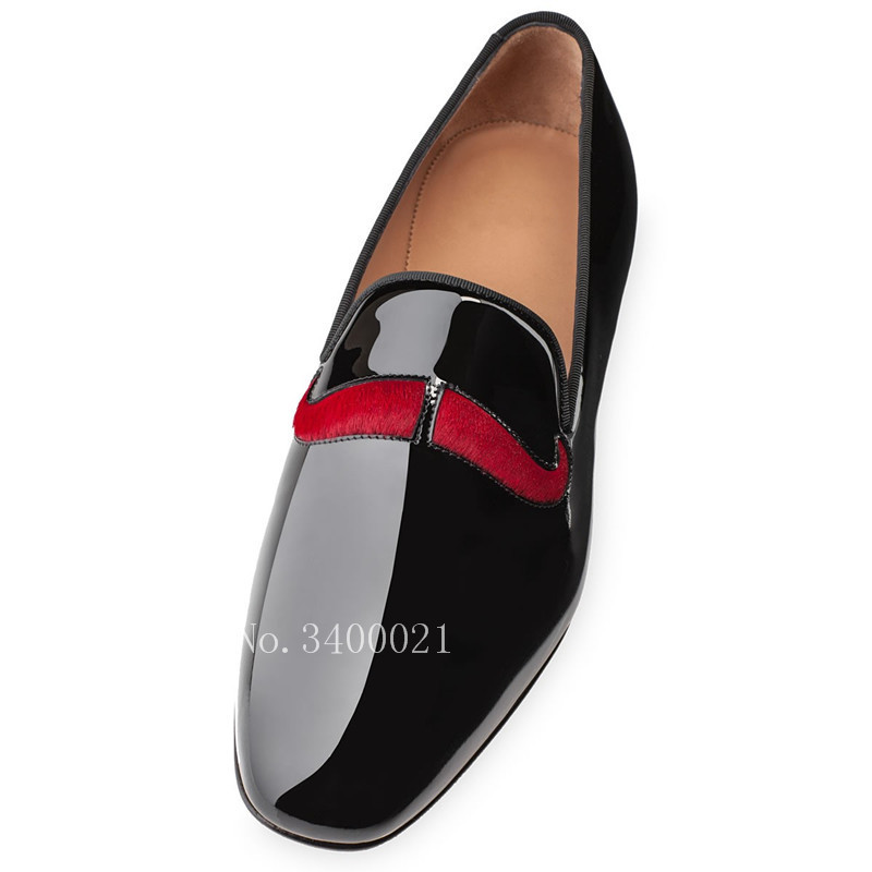 2018 Follwwith Brand Design Red Beard Patent Leather Smoking Men Loafers Plus Size 37-47 Shoes Mens Dress Flats nema23 2nm 283oz in integrated closed loop stepper motor with driver 36vdc jmc ihss57 36 20