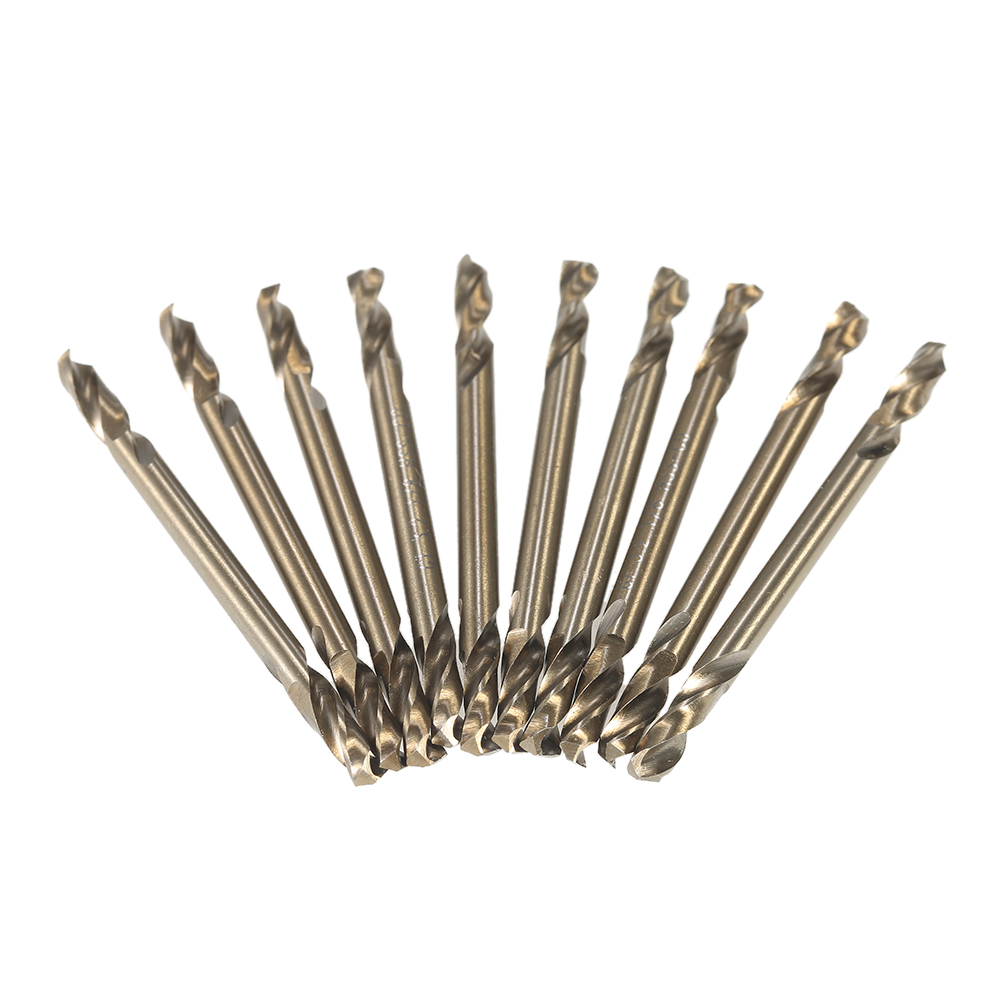 10pcs 1/8 HSS-Co drill bit set Double Ended Cobalt M35 Drill Bits Set drill bits for metal power tools accessories 13pcs set hss high speed steel twist drill bit for metal titanium coated drill 1 4 hex shank 1 5 6 5mm power tools par ad1038