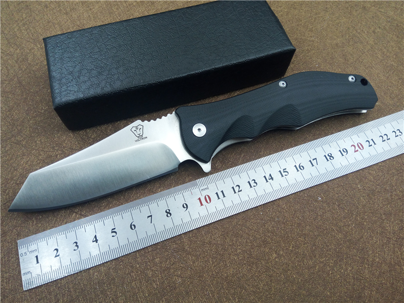 купить VOLTRON V11 pocket folding knife G10 handle 9cr18 blade ball bearing flipper outdoor camping EDC tactical knives utility knife онлайн