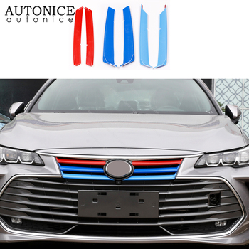 6pcs color Front grille mesh decorative frame cover Fit For Toyota Avalon ABS