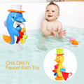 A Nova Listagem Crianças Torneira Do Banho Brinquedo Do Banho Do Bebê Brinquedos Pato na Casa de Banho Dos Miúdos Presente Ferramenta de Pulverização de Água Para Meninos Das Meninas Do Bebê