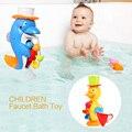 La Nueva Lista de los Niños Grifo Baño de Juguete de Baño de Bebé Pato Juguetes Herramienta de Pulverización en el Baño de Agua de Los Niños de Regalo Para Bebé Muchachas de Los Muchachos