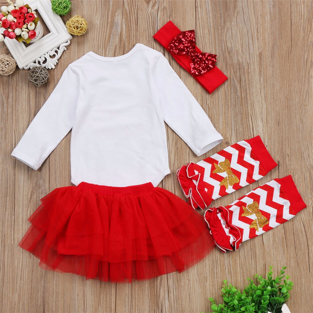 New girls Christmas New Year dress TUTU skirt Baby Set girls clothes