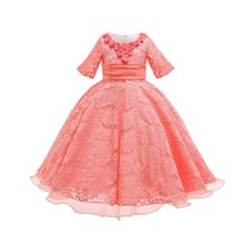 2009 New Girl Dresses Spring and Summer Childrens Lace Princess Factory Sales Baby Girls Flower sequins Dress Party top
