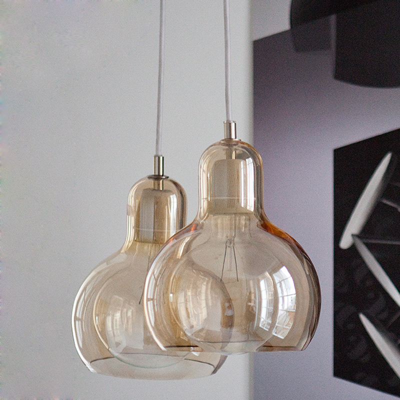 American Glass Pendant Lights Fixture Nordic Big Bulb Hanging Lamps Home Indoor Lighting Dining Room Cafes Pub Bar Droplight цена