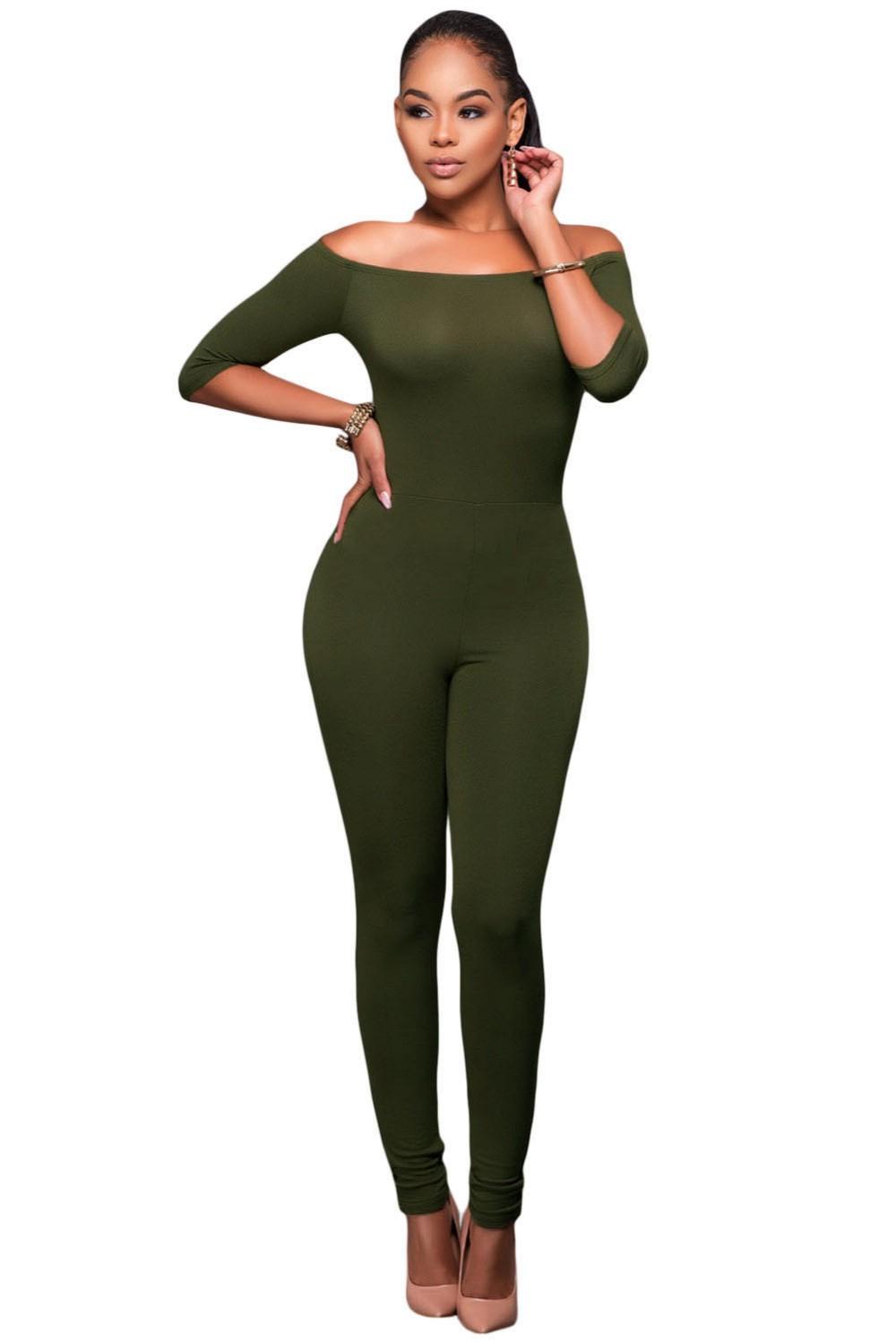 Olive-Green-Bardot-Neckline-Fashion-Jumpsuit-LC64193-9-2