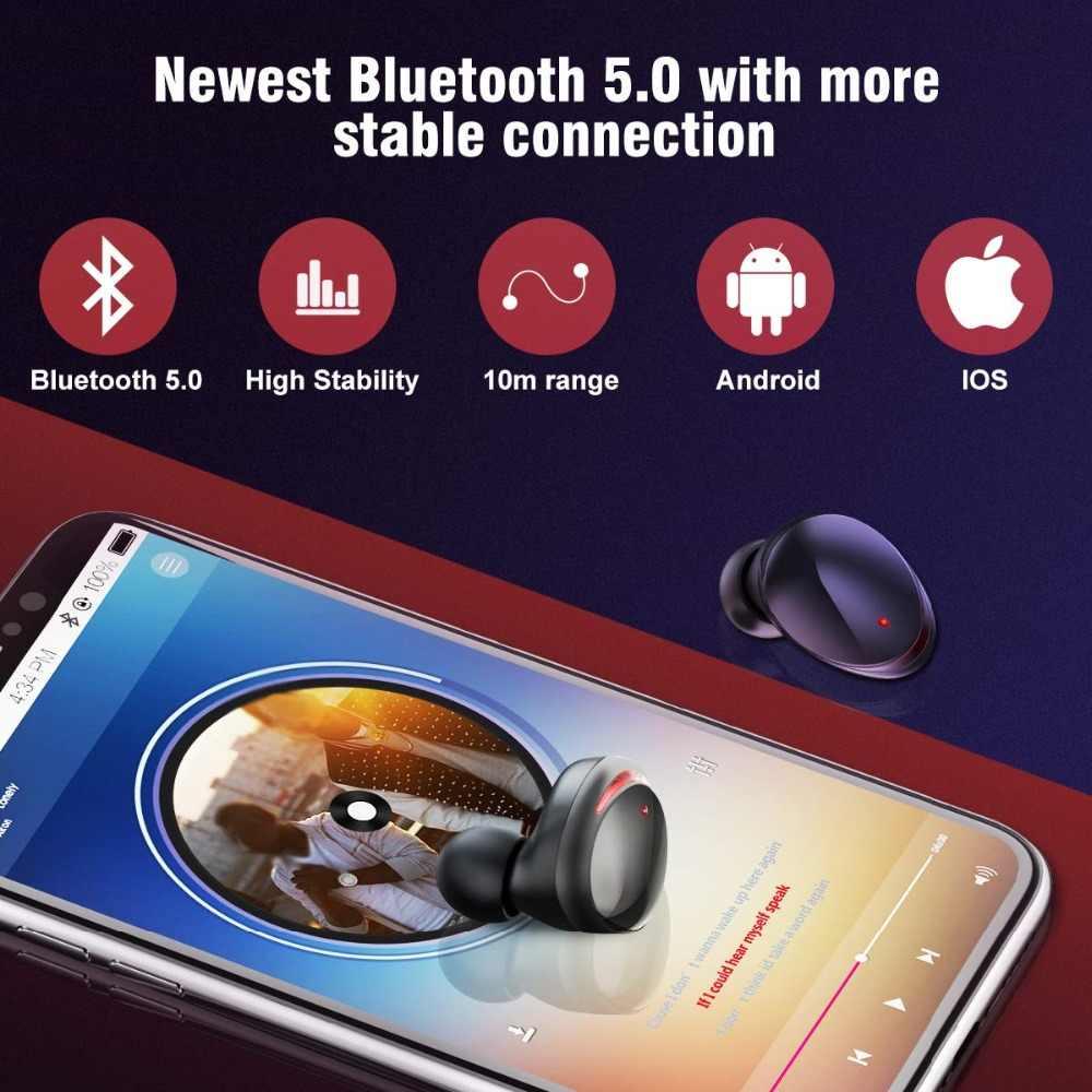 T8 Tws Stereo Bass Deep Earphone Bluetooth 5 0 Headset Ipx6 Waterproof True Wireless Earbuds Mini Earphones With Charger Box Aliexpress