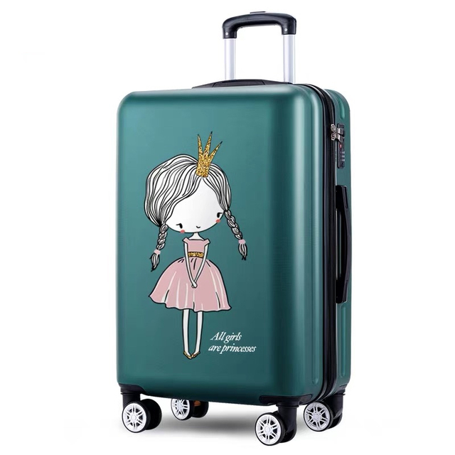 cute Luggage    Rolling  bag girls pink Spinner brand anime Travel bag 20 22 24 26 Inch