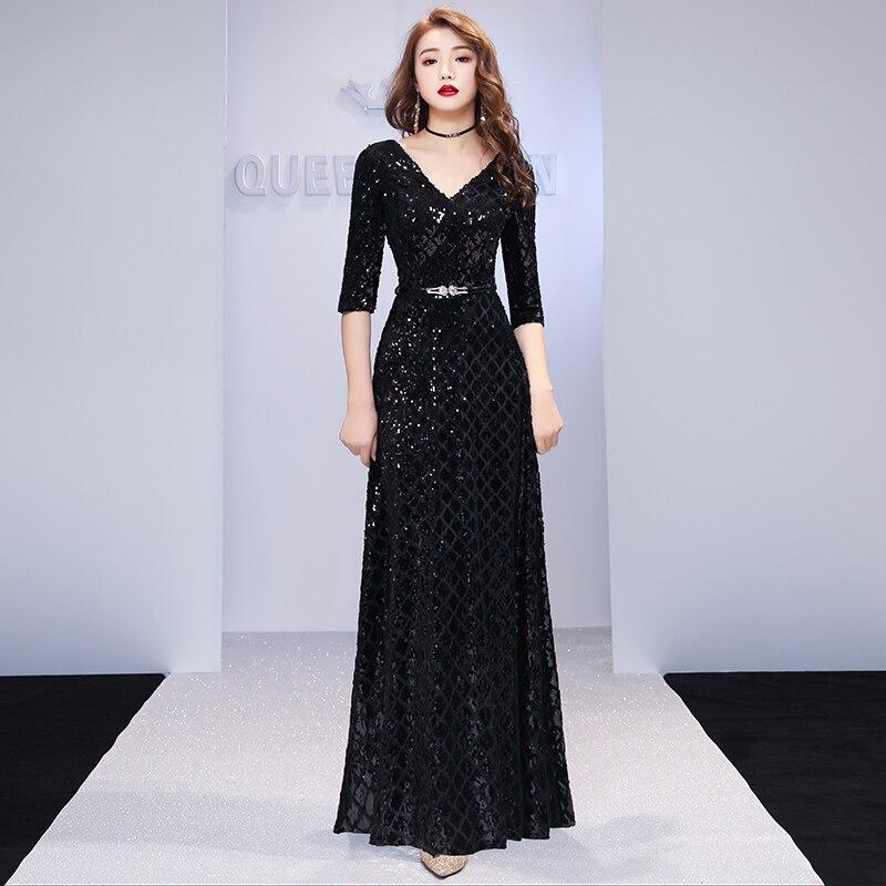 Formal Evening Dresses V Neck Long