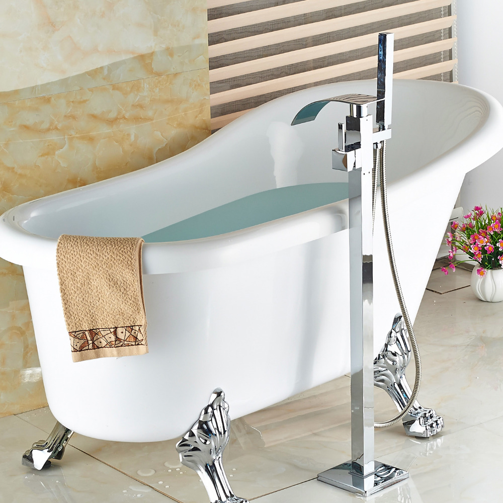 Whole And Retail Luxury Freestand Floor Mounted Clawfoot Bath