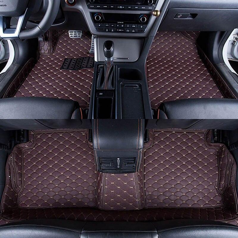 Автомобильные коврики охватывает Высший сорт против царапин огнестойкие прочный водонепроницаемый 5D кожа коврик для автомобиля Ford Focus для