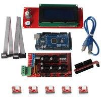 3D Printer Kit Mega2560 R3 A4988 2004LCD RAMPS 1 4 Controller For Arduino Reprap