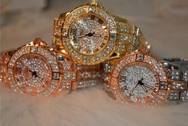 2014 nowych kobiet rhinestone zegarki sukienka ze stali kobiet - Zegarki damskie - Zdjęcie 6