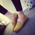 new fashion women's oxford shoescasual slip on women flats spring autumn vintage retro round toe square low heel shoes