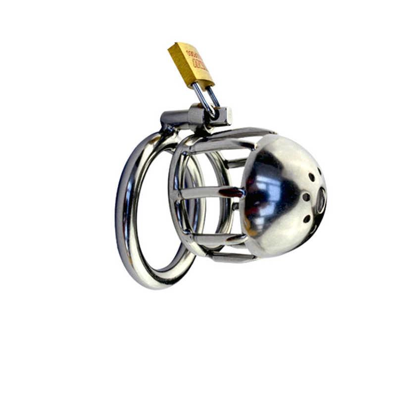 새로운 디자인 스테인레스 스틸 작은 남성 순결 케이지 수탉 반지 수탉 케이지 페니스 링 순결 장치 페니스 잠금 남자 g120