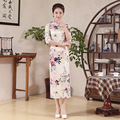 High Quality Silk Imitation Female Cheongsam Women Chinese Traditional Dress Long Chinese Traditional Dress Qipao for Party 89