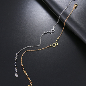 Браслет DOTIFI из нержавеющей стали для женщин, из золотистого и серебристого цвета, эротонин, молекула, геометрические, для помолвки