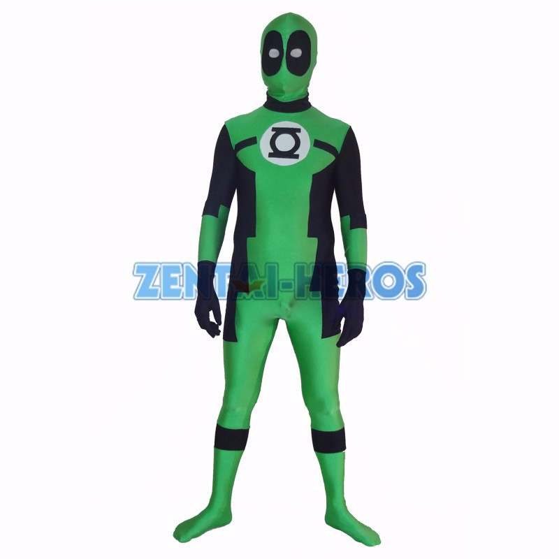 round eyes green lantern deadpool custom superhero costume halloween party cosplay sexy costumes catsuit zentai suit in anime costumes from novelty