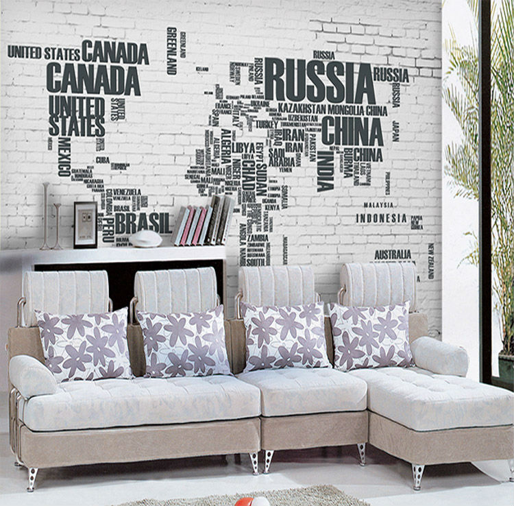 Us 2698 Fashion 3d Wallpaper World Map Photo Wallpaper Wall Mural Kids Children Room Decor Club Bar Bedroom Tv Background Wall Paper In Wallpapers
