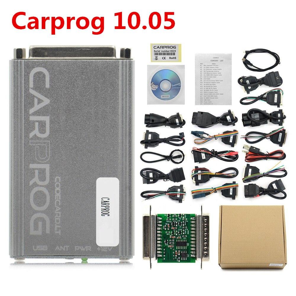 Image 3 - OBD OBD2 CARPROG Carprog V10.0.5/V8.21 Car Prog ECU Chip Tunning Car Repair Tool Carprog With All Adapters pk op com-in Code Readers & Scan Tools from Automobiles & Motorcycles