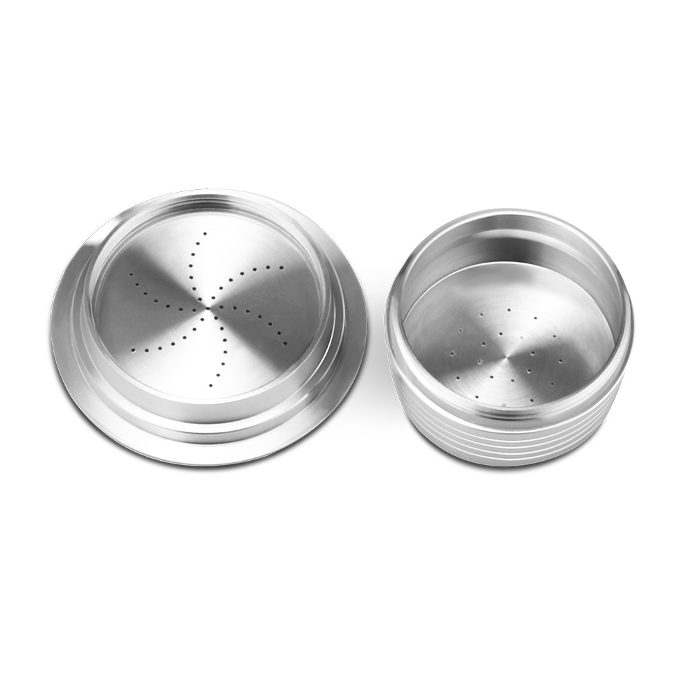 3PC/Set Stainless Steel Refillable Coffee Capsule Coffee Tamper Reusable Coffee Pod Business Birthday Coffeeware Gift