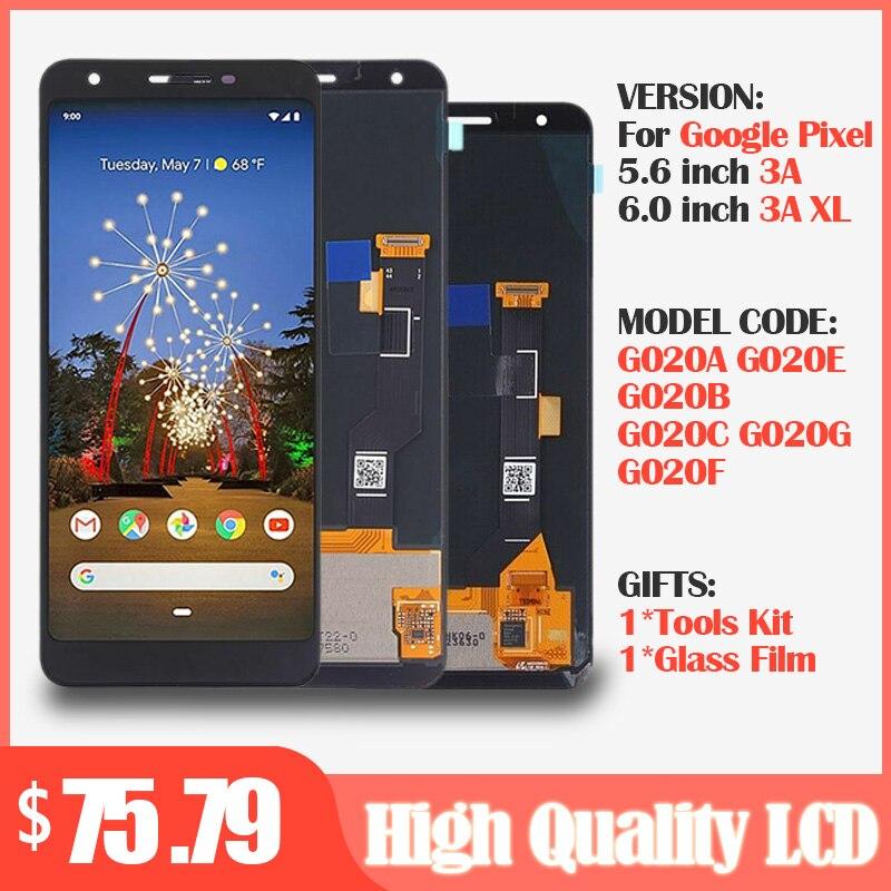 For Google Pixel 3A LCD G020A G020E G020B Display +Touch Screen Digitizer For Google Pixel 3A XL LCD G020C G020G G020F Screen