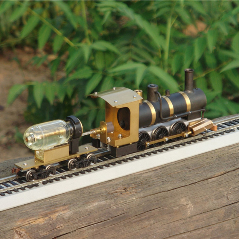 Modello di Treno a vapore A Vapore Modello di Locomotiva A Vapore Drive Proporzione HO Motore A Vapore Vivo