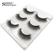 SHIDISHANGPIN Mink Eyelashes 3d Lashes Natural False Makeup eyelash extension faux cils maquiagem 03