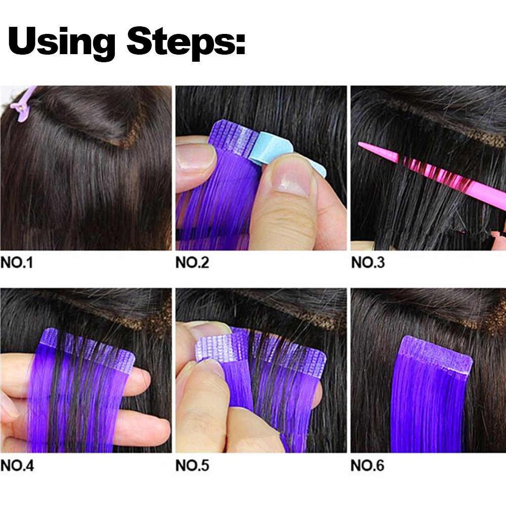 5 листов 60 шт. клейкие ленты для замены 4 см * 0,8 см водонепроницаемые двухсторонние клейкие полоски для волос на шнурках средство для наращивания волос
