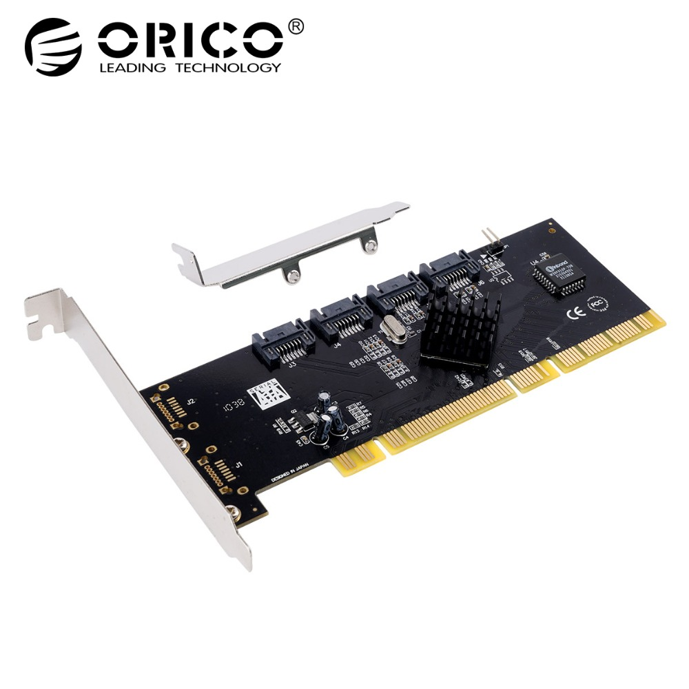 ORICO 4 Port SATA2.0 PCI-E Expansion Card PCI-X Host Interface PCI E PCI-E Express 3Gbps Expansion Adapter Boards Add On Cards цена
