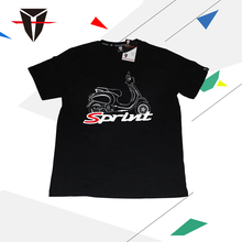 KODASKIN Men 100% Cotton Round Neck Casual Printing Short Sleeve T Shirt for VESPA SPRINT