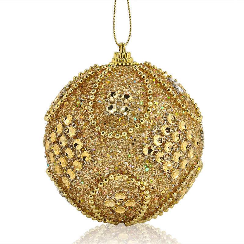 Christmas Rhinestone Glitter Baubles Balls Xmas Tree Ornaments christmas decorations enfeite de natal for home 2018 #2o26 (7)