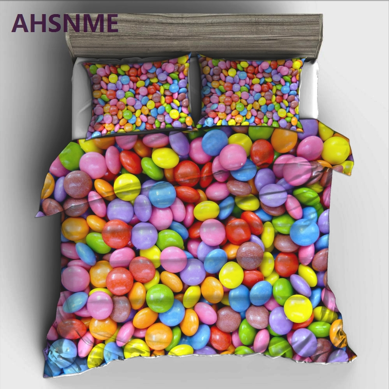 AHSNME Beautiful Sleep Candy Sweet Bedding Set High-definition Print Quilt Cover for RU AU EU US Size Market jogo de camaAHSNME Beautiful Sleep Candy Sweet Bedding Set High-definition Print Quilt Cover for RU AU EU US Size Market jogo de cama