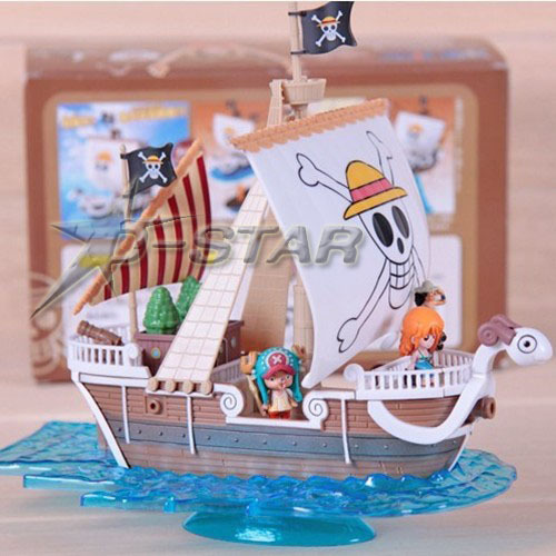 Free Shipping Cool 7 One Piece Straw Hat Pirates Boat Going Merry Pirate Ship 18cm Boxed PVC Collection Model Toy Gift 9parts sets anime one piece the straw hat pirates so cool model doll garage kit pvc action figure collection toy