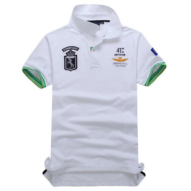 2018 nuevo Top de buena calidad bordado hombres marca-camisas Polo marca  moda hombres Camisa 553a234dbfaba