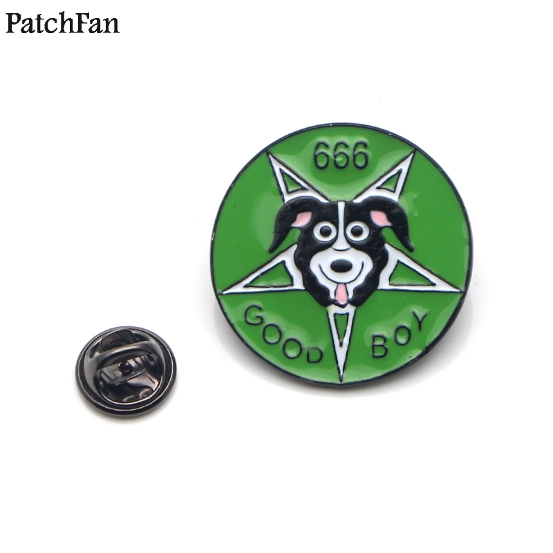 Badges Home & Garden Friendly 20pcs/lot Patchfan Mr Pickles Dog Zinc Tie Cartoon Funny Pins Backpack Clothes Brooches For Men Women Hat Badges Medals A1839