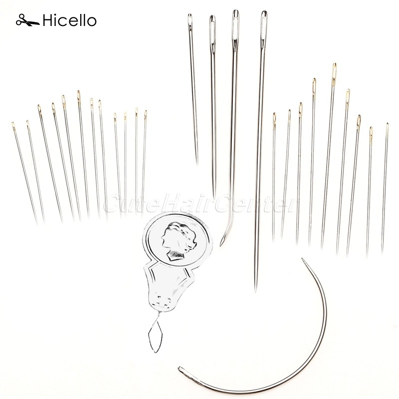 Hicello 24 Pcs/Set Upholstery Sewing Needles Craft Tool