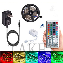 10M 5M  5050 RGB 60 LED strip light waterproof led flexible rgb diode tape set+Remote Control+Power Adapter