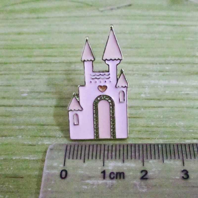10pcs/ lot fashion jewelry accessories cute enamel cinderella dress crown highheel shoe pumpkin castle brooch pin