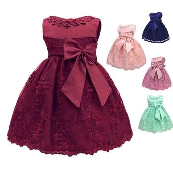 bd8780f13 Vintage Vestido de la muchacha del bebé 1-2 años bebé niñas cumpleaños vestidos  fiesta vestidos Vestido de princesa bebé para Navidad vestido de fiesta