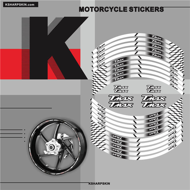 Motorcycle Inner Wheel Stickers Rim Reflective Decoration Decals Moto Accessories For YAMAHA TMAX 530 500