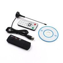 USB2.0 DAB FM DVB-T RTL2832U R820T SDR RTL-SDR E4000 Upgrade Verion Stick Digital TV Tuner Receiver IR Remote