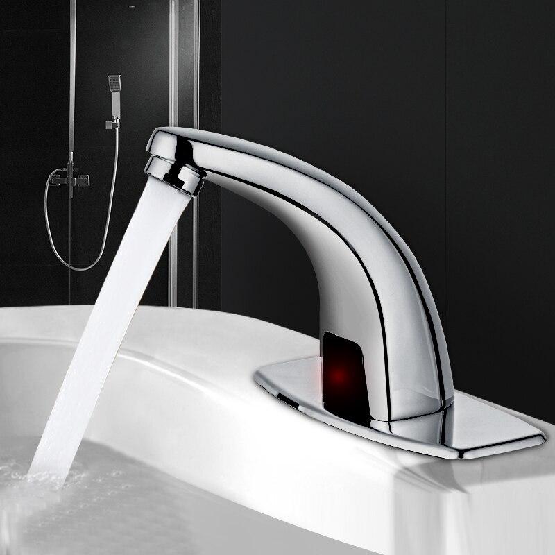 Robinet d'eau à Induction salle de bain chaude et froide capteur automatique sans contact économie d'eau électrique robinet d'eau mélangeur batterie puissance