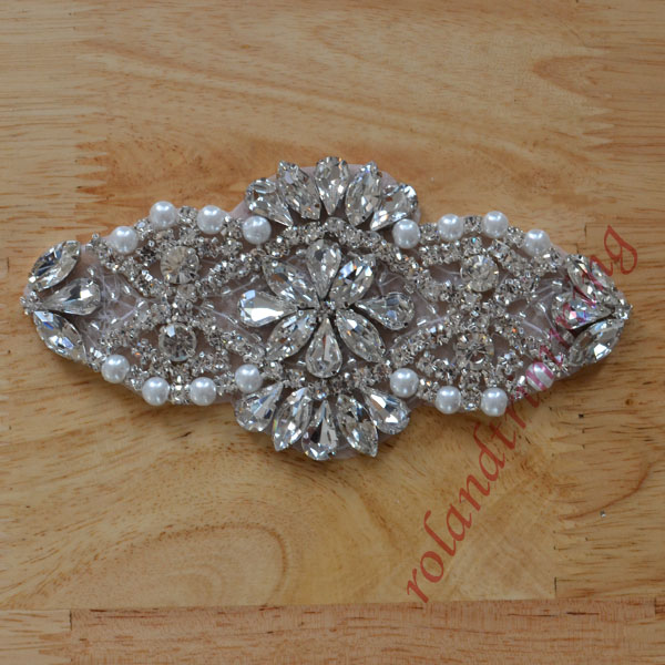 Free Shipping 2017 New Crystal Rhinestone Bridal Liques Embellishments For Wedding Dresses Accessories Ra349
