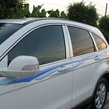 цена на For Honda CRV CR-V 2007 2008 2009 2010 2011 Car Styling Stainless Steel Window Trims Center Pillars B + C Pillar Covers 6Pcs